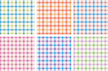 Cute colorful check pattern vector for swatch