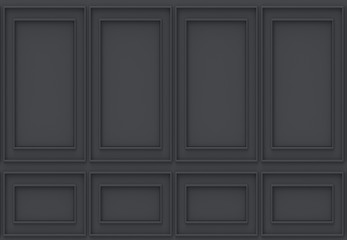 3d rendering. luxury black wood wall background