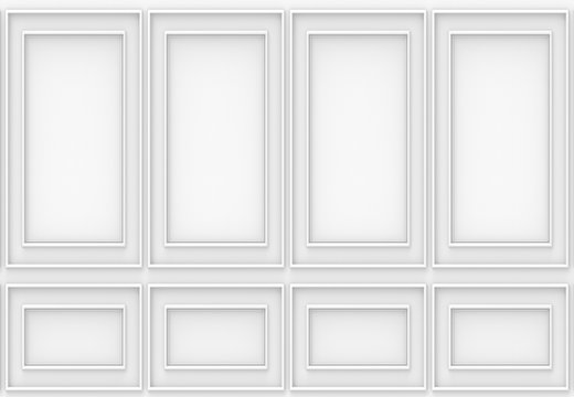 3d rendering. luxury white wood wall background