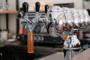 Metal taps for draft beer
