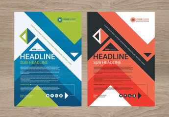 Multipurpose Flyer Layout with Geometric Element 6