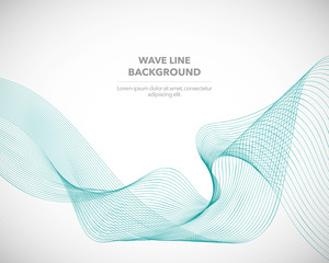 Elegant abstract vector wave line futuristic style background template