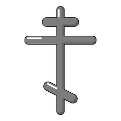 Orthodox cross icon, cartoon style
