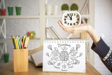 Brainstorm and time management concept