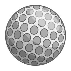 Golf ball icon, cartoon style