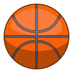 Basketball ball icon, cartoon style