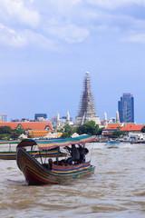 タイ バンコク チャオプラヤ川 からの景色
