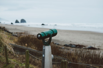View finder looking out over the Oregon coast.