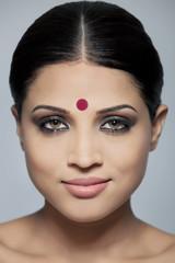 Portrait of a beautiful woman with a bindi