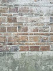 Detail of worn brick wall