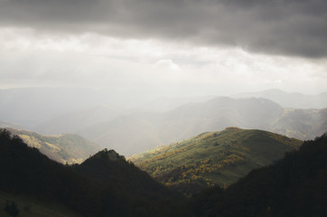 Mountain landscape after rain