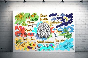 Healthy brain concept