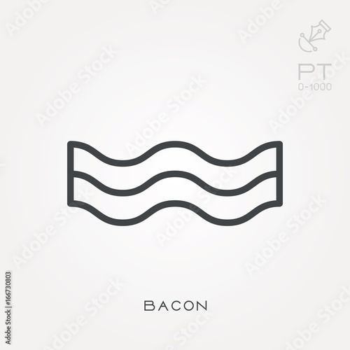 Line Icon Bacon Stock Image And Royalty Free Vector Files On