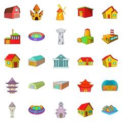 Frame icons set, cartoon style