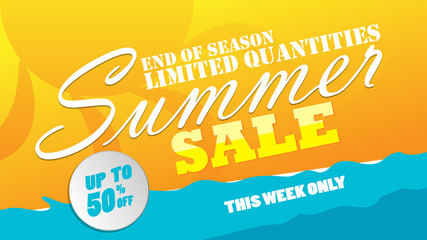 Sale banner template design vector illustration
