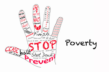 Stop poverty illustration