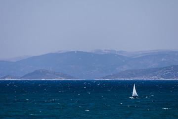 Sailing on the turkish aegean sea (Cesme - Izmir - Turkey)