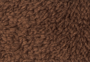 Brown double sided terry towelling fabric texture background