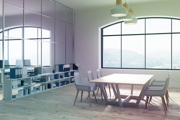 Loft meeting room and an open office