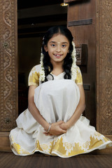 Portrait of a South Indian girl