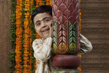 Portrait of a South Indian boy