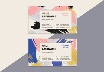Abstract Patterned Business Card Layout 2