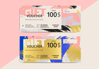 Abstract Patterned Gift Voucher Layout 2