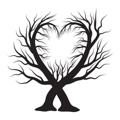 heart tree  vector symbol icon design. Beautiful illustration isolated on white background