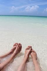 feet on the beach at cayo coco cuba