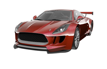 Modern Car render isolated