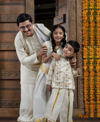 Portrait of a South Indian family