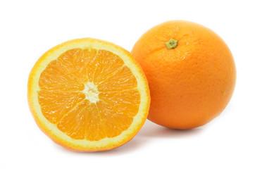 Isolated oranges fruits