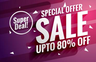 purple sale banner design template for business promotion