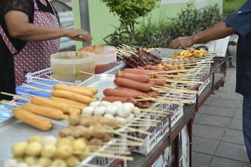 Asiatisches Essen und Strassenküche in Bangkok