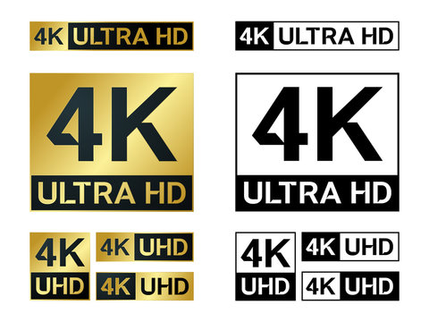 4k Ultra Hd icon. Vector 4K UHD TV symbol of High Definition