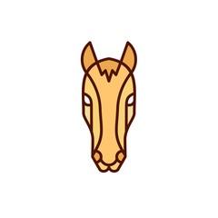 Horse - Vector logo / icon mascot illustration