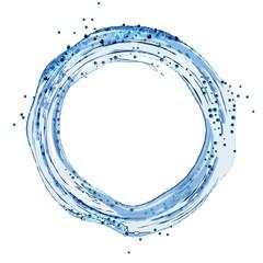 Round water splash