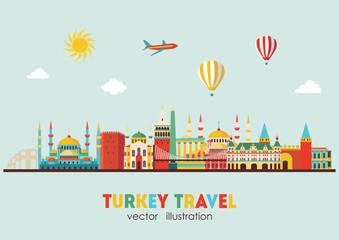 Turkey detailed skyline. Vector illustration - stock vector