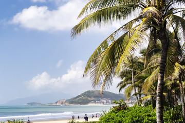 View of a tropical beach in Hainan island - China