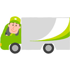 vector illustration of a delivery man