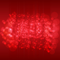 Abstract background. Dark Red vector pattern with colored spheres.