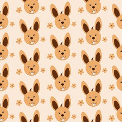Rabbit Cartoon Fun Art Pattern Illustration Vector