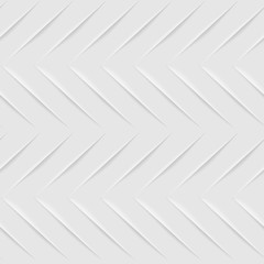 Seamless White Zigzag Pattern. Embossed Effect Texture Vector Design.