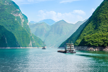 Schiffe auf dem Jangtse, China