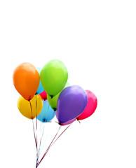 Balloons, Luftballons, Ballons, bunt, auf weiß, freigestellt, isoliert, Textraum, copy space