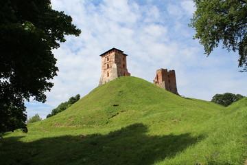 The ruins of the castle of Novogrudok