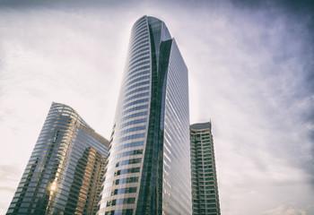 Modern office buildings in city center