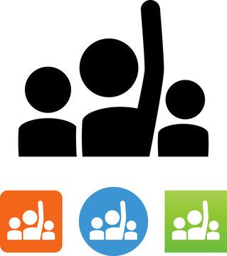 Hand Raised Icon - Illustration