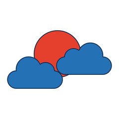 sun and cloud weather web icon