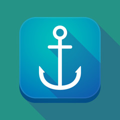 Long shadow app button with an anchor